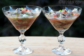 5- Refreshing oyster ceviche