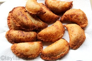 8 - Place empanadas on paper towels to remove excess grease