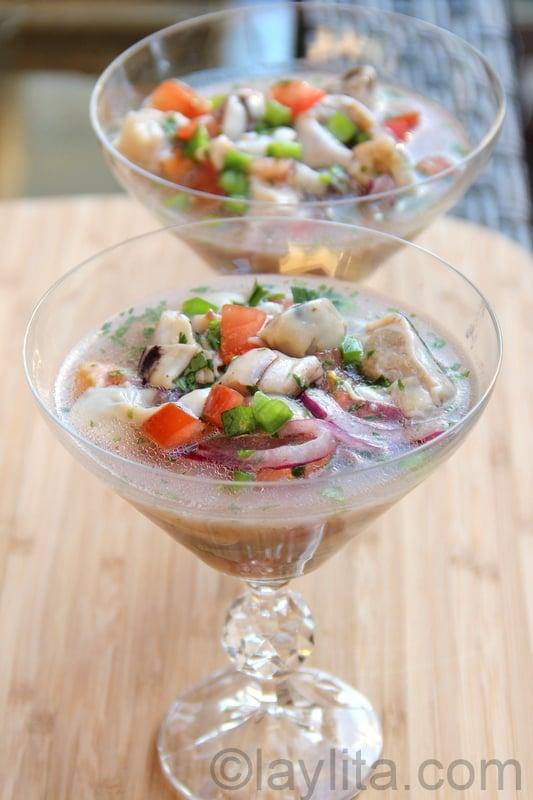 Ecuadorian oyster ceviche
