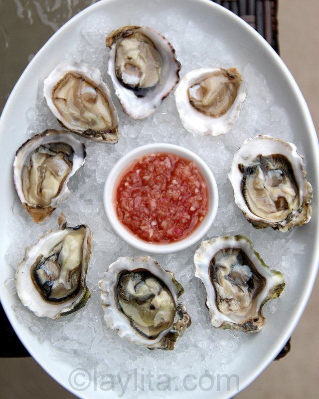 Mignonette or French shallot vinaigrette for oysters
