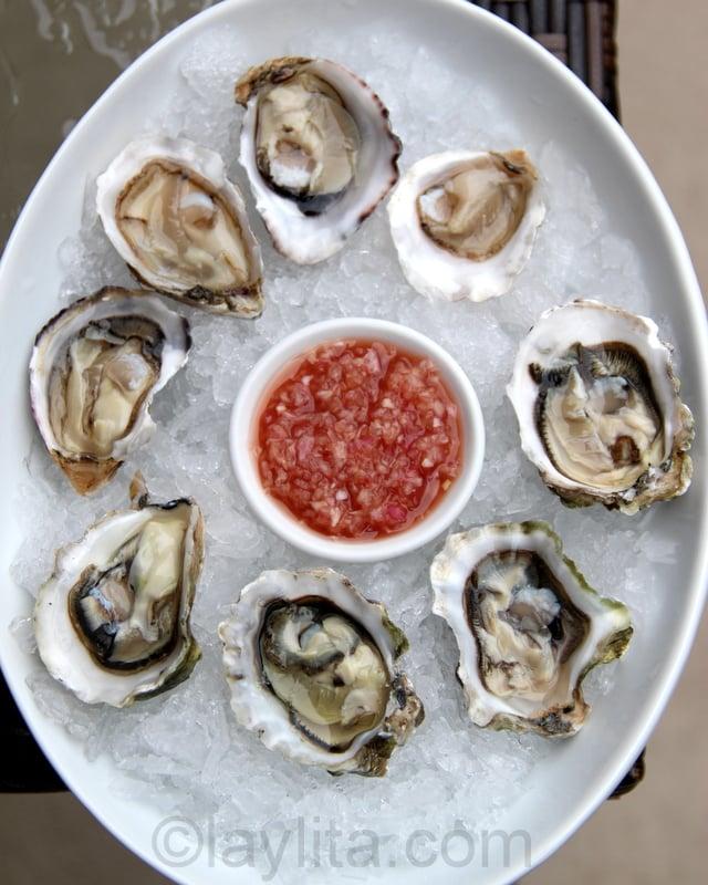 Mignonette or French shallot vinaigrette for oysters