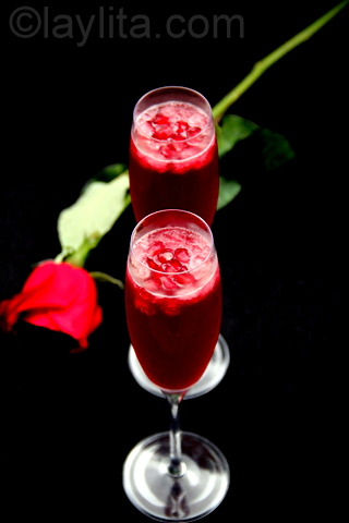 Pomegranate tequila mimosa