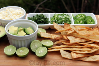 Garnishes for tortilla soup