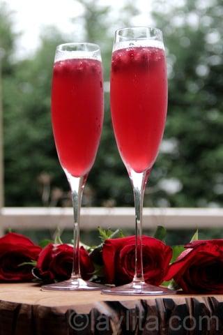 Pomegranate sparkling cocktail