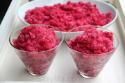 Pomegranate granita recipe