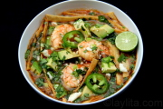 Shrimp tortilla soup