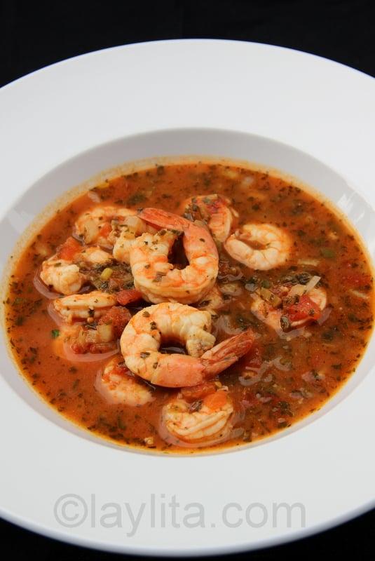 Soupe méxicaine aux crevettes et épicée