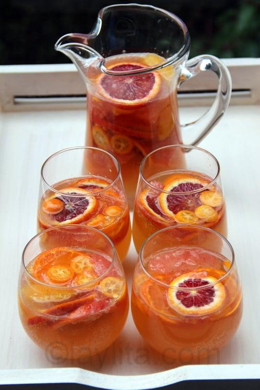 Citrus moscato sangria