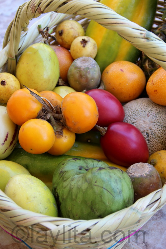 Ecuadorian fruit basket