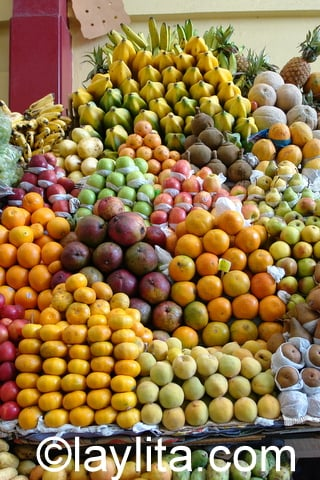 Fruits at the market in Ecuador