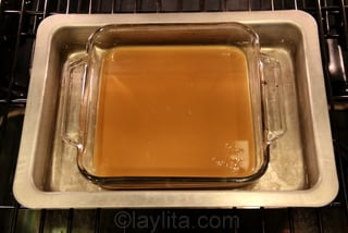Bake for 3 to 3 .5 hours or until it has a caramel color