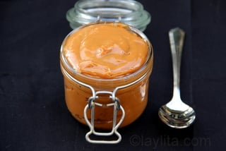 Manjar or dulce de leche - Oven double broiler method