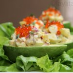Egg salad stuffed avocado