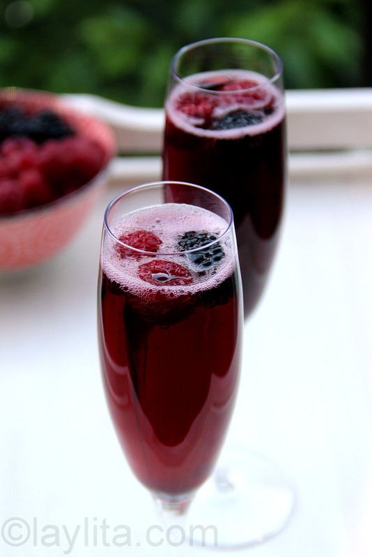 Cocktail de kir royal