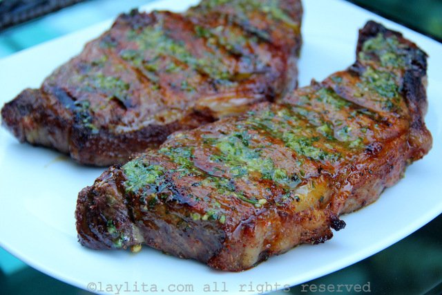 Bistec asado grilled steaks with achiote marinade