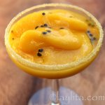 Mango passion fruit margarita