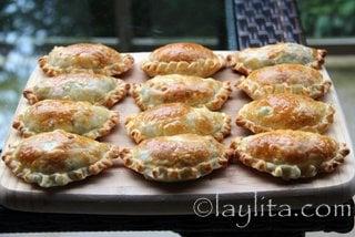 Preparação de empanadas de aspargos