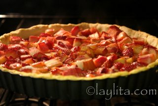 Bake in a pre-heated oven at 400F for about 35-40 minutes or until the crust is golden