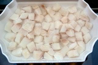 Preparação para ceviche peruano de peixe