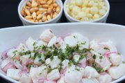 Peruvian Fish cebiche or fish ceviche