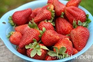 Fresh strawberries to make compote