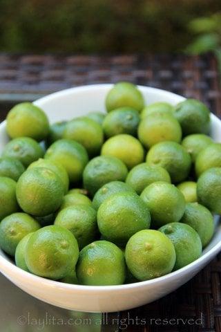 Les citrons verts pour le ceviche