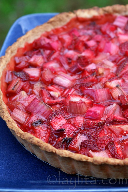 Rhubarb strawberry classic tart recipe