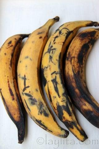 Bananes plantain mures