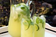 Vodka mint lemonade or limeade