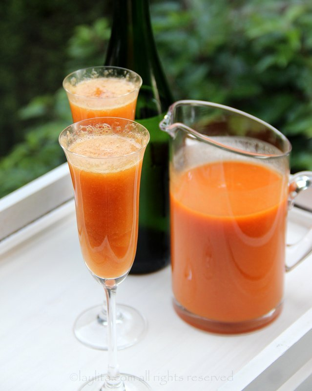 Peach Bellini Cocktail Laylita S Recipes