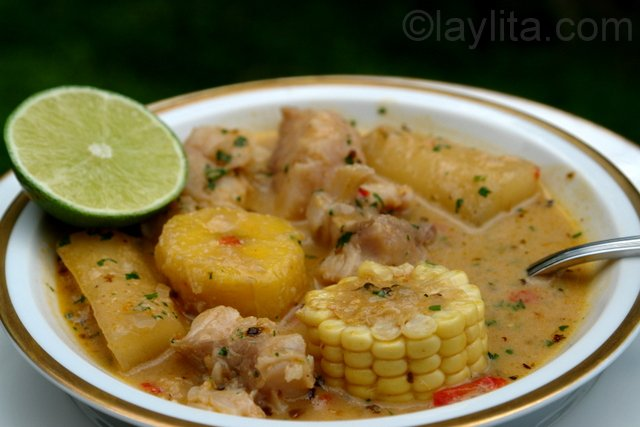 Biche fish soup with plantains