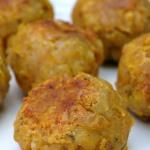 Bolon de verde or green plantain balls or dumplings