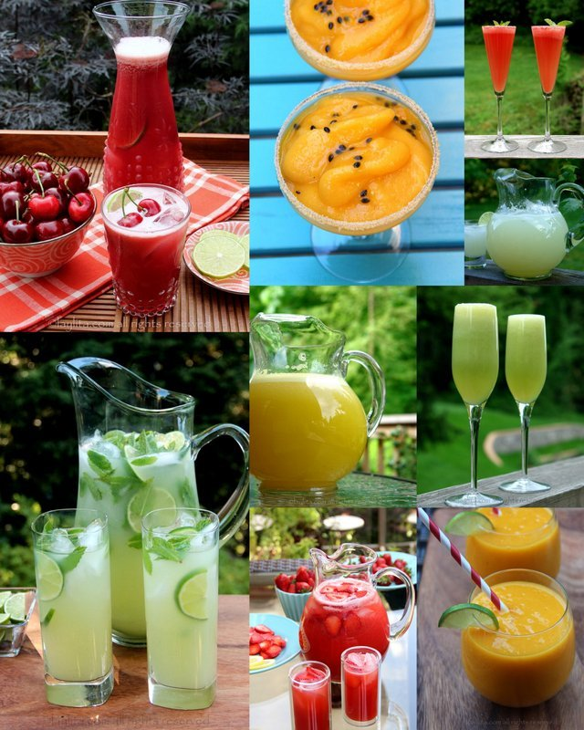 Easy summer drinks and cocktails