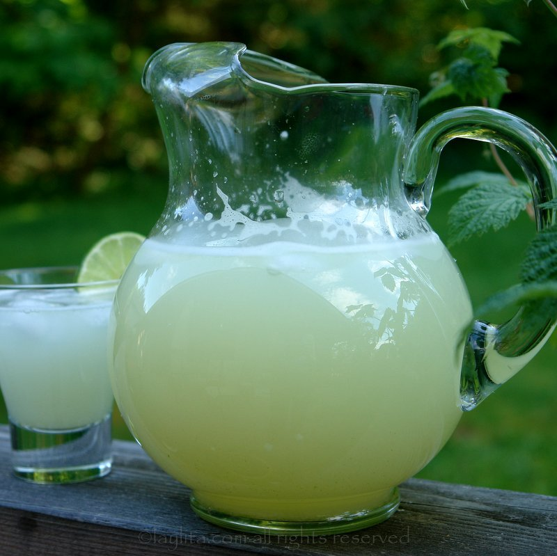 Homemade limonada, limeade or lemonade recipe