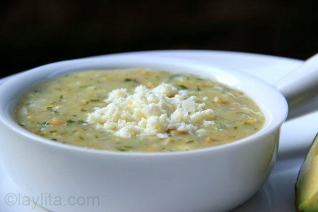 Repe lojano or green banana soup