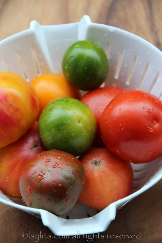 Heirloom tomatoes for caprese salad