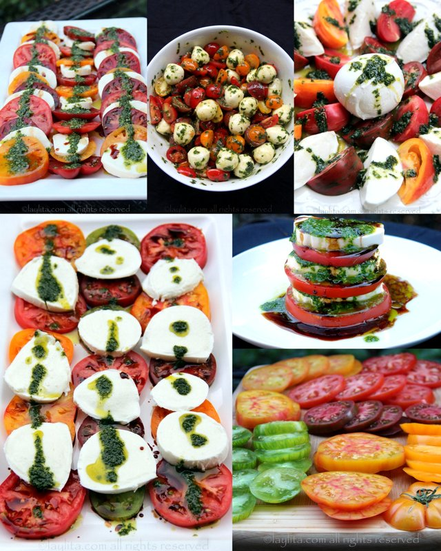 Caprese salad presentation ideas