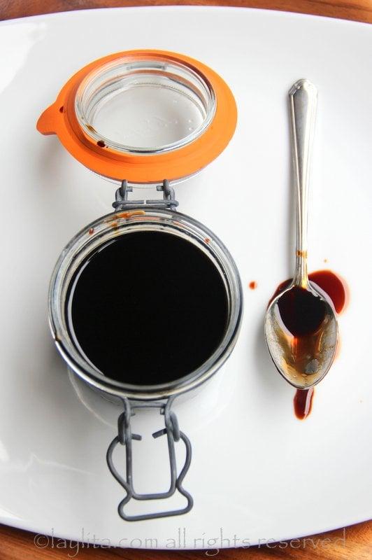 Receta para hacer reducción de vinagre balsámico