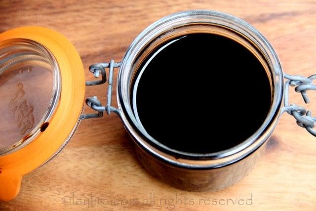 Preparación de la reducción de vinagre balsámico