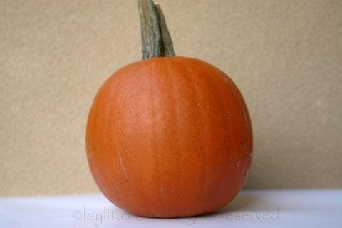Pumpkin to make empanadas