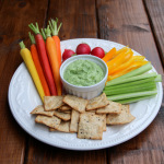 Spicy avocado yogurt dip