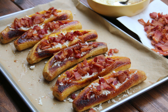 Add a layer of crispy bacon pieces