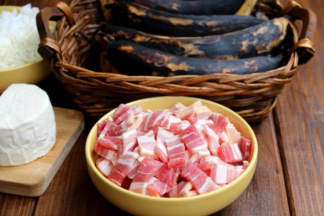 Bacon cut into small pieces