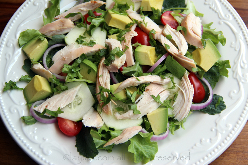 This salad is a great way to use grilled or roasted chicken leftovers