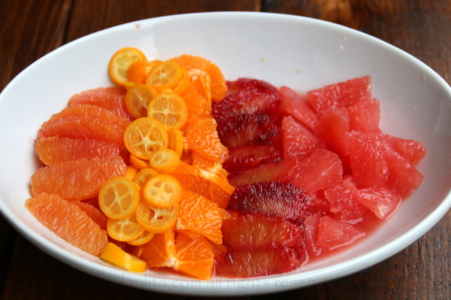 Citrus segments and slices for salsa