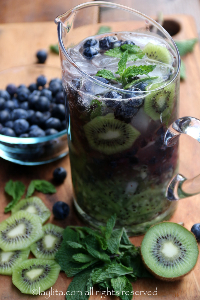 Como hacer mojitos con frutas