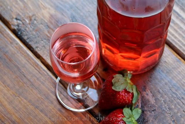 Tequila com sabor de morango