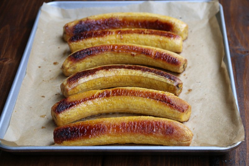 Baked ripe plantains