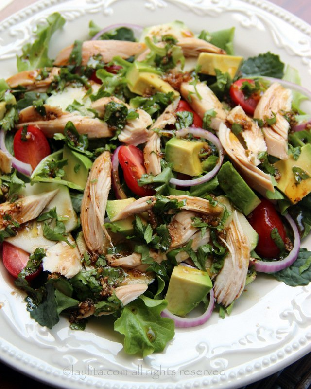 Chicken salad with balsamic dressing