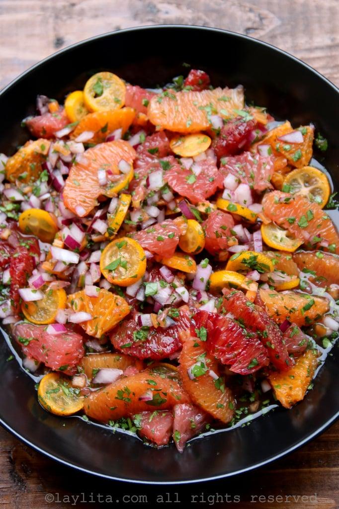 Spicy citrus orange habanero salsa